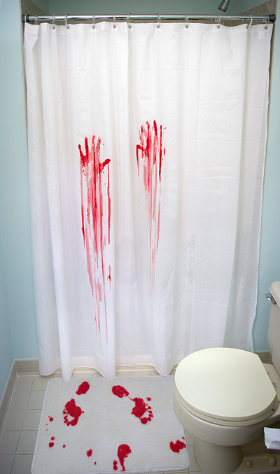 Psycho Shower Curtain Bath Mat